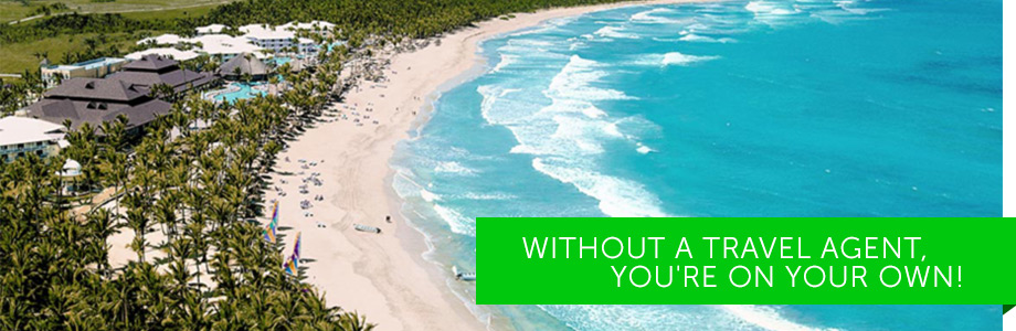 Without a travel agent, you're on your own!