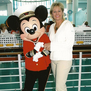 Kelly with Mickey Mouse