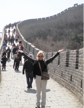 Kelly at the Great Wall