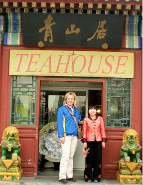 Kelly at the teahouse